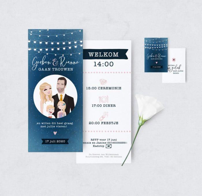 Bijzondere trouwkaart